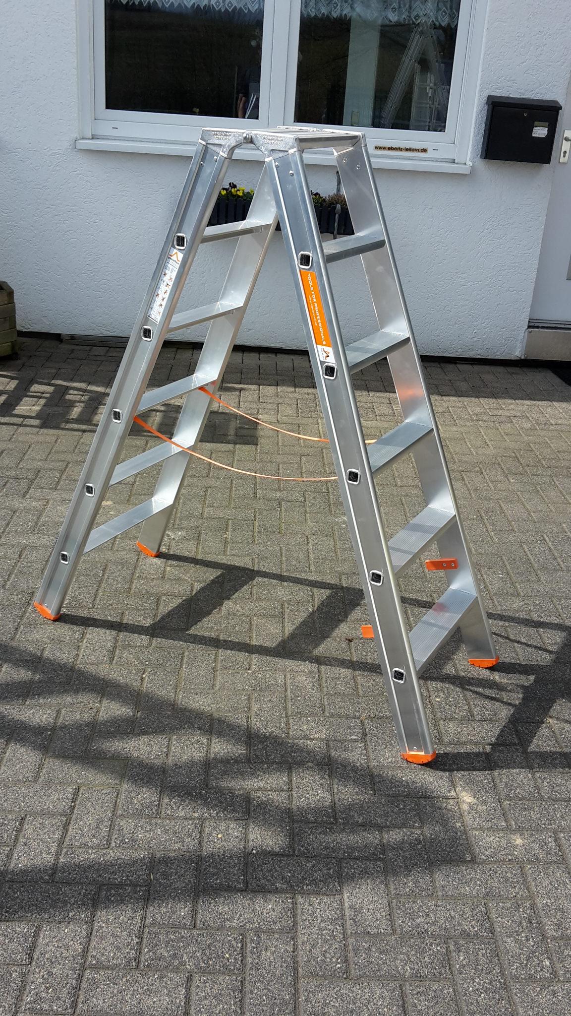 Poeschco Stehleiter Profi Beidseitig 2 X 6 Stufen