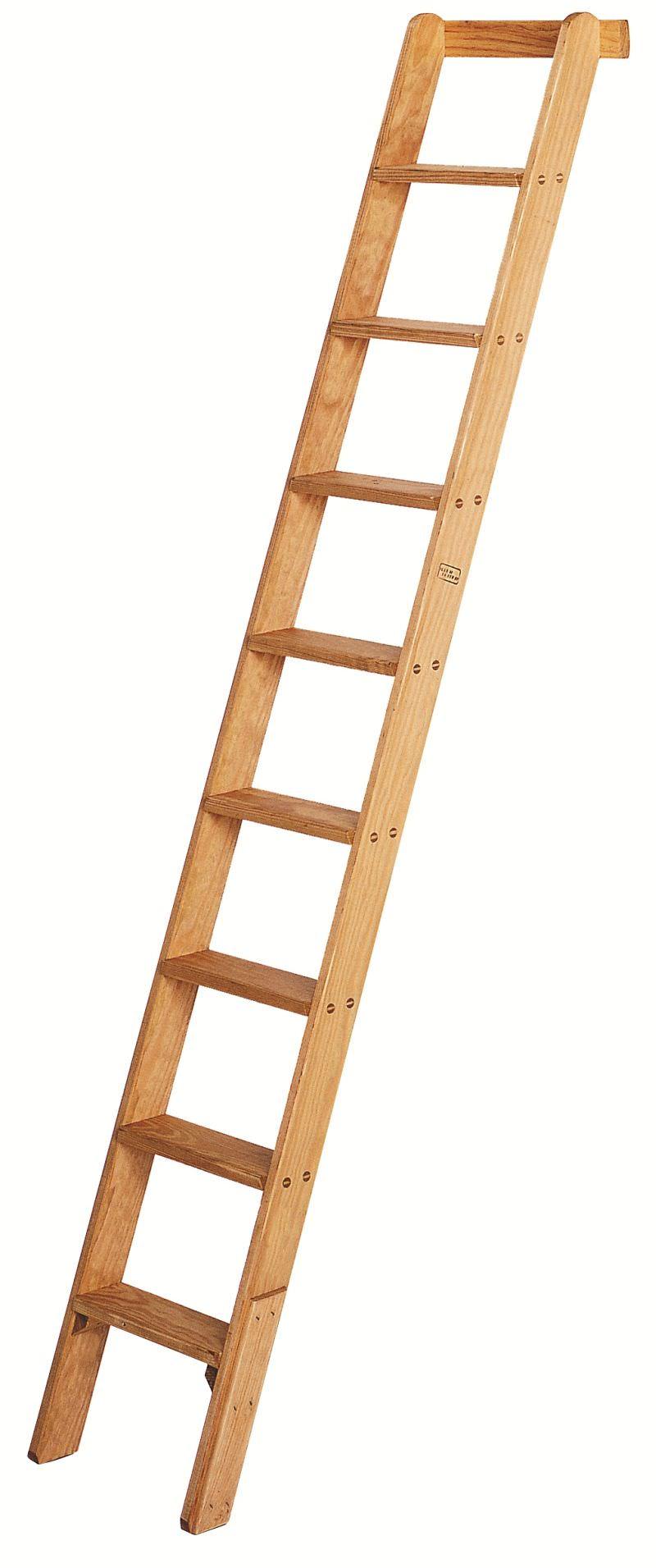 BUcherregal Holz Mit Leiter ~ Iller Holz Anlegeleiter 2,86 m lang 11 St Aufsetzhöhe 2,63 m