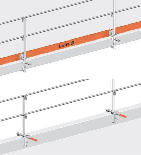 Absturzsicherung Geländer layher brüstungsklammer geländer 15 35 m absturzsicherung