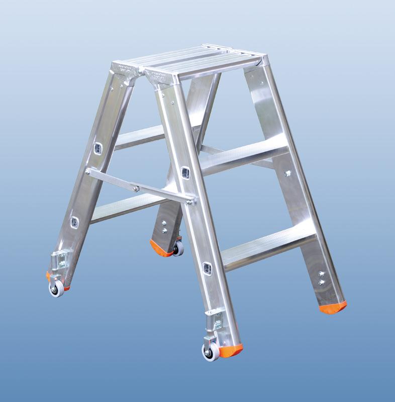 poeschco tritt profi beidseitig rollbar 3 stufen h he 0 70 m. Black Bedroom Furniture Sets. Home Design Ideas